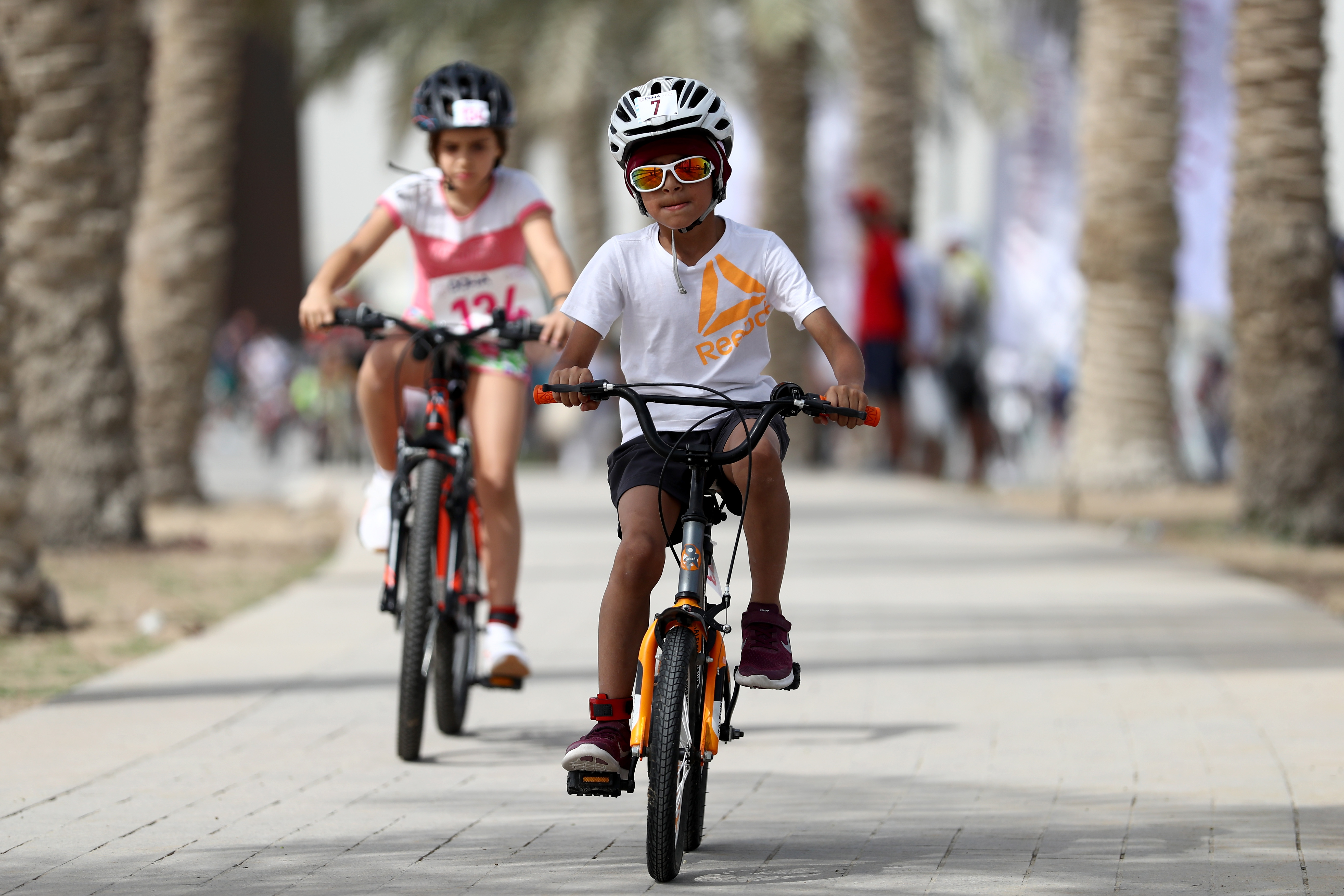 DOHA, QATAR - MARCH 16: during the Doha Triathlon 2018 on March 16, 2018 in Doha, Qatar.Set along Doha's spectacular coast line, the course offered competitors stunning views of architecture and art including statues by Richard Serra and the I. M.Pei designed Museum of Islamic Art. (Photo by Francois Nel/Getty Images for Qatar Tourism Authority)